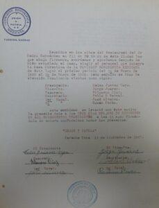Meeting minutes of Comisión Honorífica Mexicana of Parsons, Kansas. December 13, 1927.